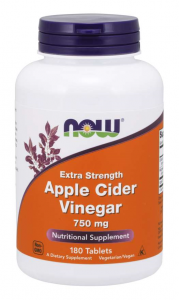 Now Foods Apple Cider Vinegar 750 mg Svara Kontrole