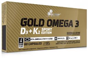 Olimp Gold Omega 3 D3 + K2 Sport Edition