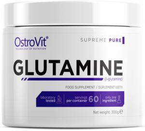 OstroVit Glutamine L-Glutamīns Aminoskābes Pēc Slodzes Un Reģenerācija