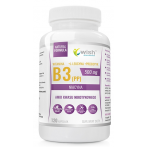 WISH Pharmaceutical Niacin Vitamin B3 (PP)  500 mg + Prebiotic