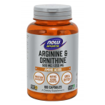 Now Foods Arginine & Ornithine 500 mg / 250 mg Nitric Oxide Boosters L-Arginine Amino Acids