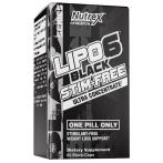Nutrex Lipo-6X Black Stim-Free Tauku Dedzinātāji Svara Kontrole